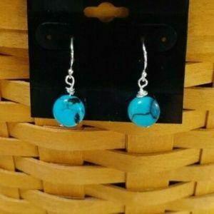 Sundance J.S.Jill Blue Turquoise SS Earrings O488